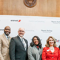 dean-peter-hlebowitsh-and-dr.-karl-hamner-at-smart-congressional-briefing-with-melanie-ginn-cvs-health-aramark-and-hhf